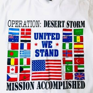 Other - Vintage 1991 Desert Storm Commemorative tee